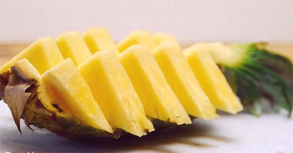Einfache Und Geniale Methode Eine Ananas Zu Schneiden