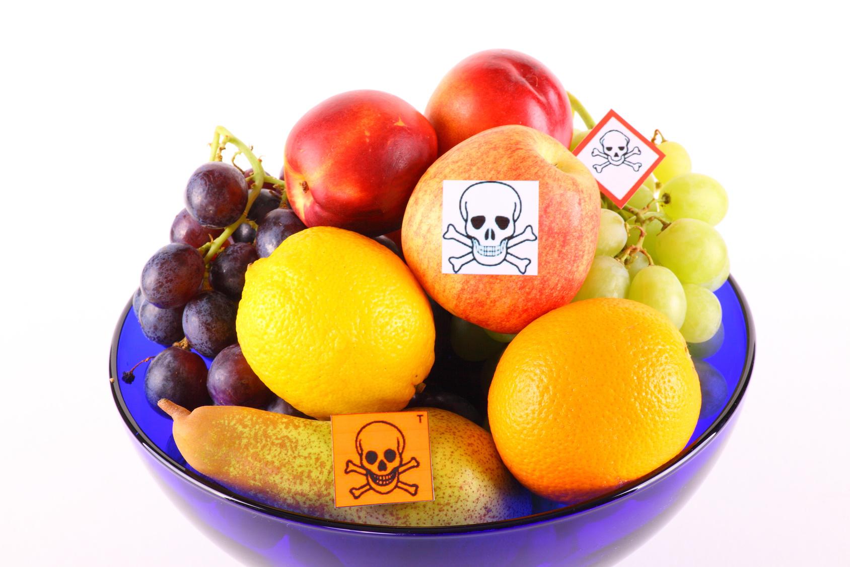 Kontaminiertes Obst