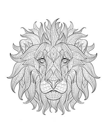 Meditatives malen die beste alternative zur meditation for Lion mandala coloring pages