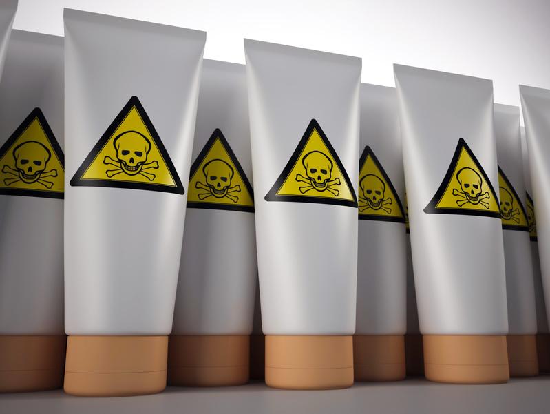 Toxic cream tubes